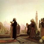 Tableau : Prieurs au Caire